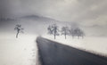 Snowy Winter Road Royalty Free Stock Image - 36433826