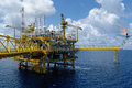 Offshore Rig In Gulf Of Thailand Royalty Free Stock Images - 36434139
