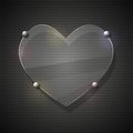 Glass Heart On Metal Grid. Vector Illustration Stock Photography - 36442042