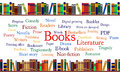Books Word Cloud And Books On Shelf Stock Images - 36443034