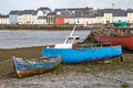 Fisherboats On Land In Claddagh Stock Photography - 36445872