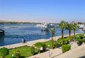 ANSUAN, EGYPT - NOVEMBER 16, 2008: Embankment Of The Nile. Royalty Free Stock Images - 36447069