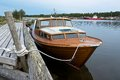 Boat At Anchor In Replot Pier Royalty Free Stock Photography - 36447337