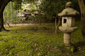 Lantern And Traditional House  In Japaneese Garden Sankei-en Royalty Free Stock Image - 36476516