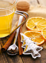 Delicious Fruit Tea Around The Wooden Table. Royalty Free Stock Photography - 36502817