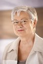 Portrait Of Elderly Woman With Glasses Stock Photos - 36503163