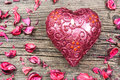 Red Heart Shaped Candle Stock Photography - 36504272