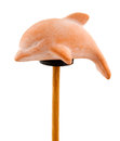 Dolphin In Clay On Wooden Stick Royalty Free Stock Photography - 36509847