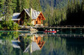 Wooden House At Emerald Lake, Yoho National Park, Canada Stock Photo - 36514870
