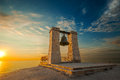 Bell At Sunset Near The Sea Royalty Free Stock Photo - 36535205