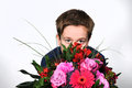Boy With Flowers Royalty Free Stock Photo - 36550205