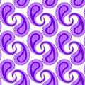 Purple Paisley Seamless Geometric Pattern Royalty Free Stock Photo - 36557595