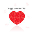 Red Puzzle Heart Shape On  Background Stock Images - 36557864
