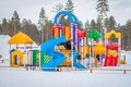 Playground In Winter Royalty Free Stock Photos - 36560278