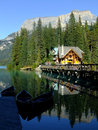 Wooden House At Emerald Lake, Yoho National Park, Canada Stock Photos - 36561583