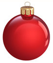 Red Christmas Bauble, Isolated On A White Background Royalty Free Stock Photography - 36574577