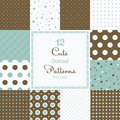 12 Cute Different Dotted Vector Seamless Patterns (tiling). Royalty Free Stock Photos - 36575358
