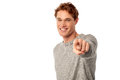 Young Smiling Guy Pointing You Out Royalty Free Stock Photos - 36580388