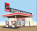 Service Gas Station Stock Image - 36580941