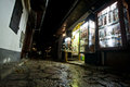 Narrow Street With Souvenir Shop Late At Evening I Stock Images - 36595064