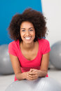 Smiling African American Woman In A Gym Royalty Free Stock Images - 36605569