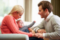 Couple With Woman Suffering From Post Natal Depression Royalty Free Stock Images - 36608039