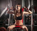 Passion Woman In Sports Hall Royalty Free Stock Photography - 36613067