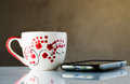 Still Life Coffe Cup And Phone Royalty Free Stock Photography - 36614097