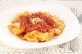 Pasta With Tomato Meat Sauce Royalty Free Stock Photos - 36614318