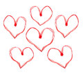 Red Valentine Hearts Royalty Free Stock Images - 36624999