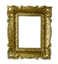 Old Gold Vintage Picture Frame Isolated On White Stock Photography - 36627852