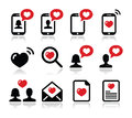 Love, Valentine S Day Icons Set Royalty Free Stock Photography - 36638247