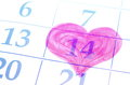 Valentines Day. Date Of Calendar. Stock Photos - 36639573