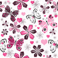 Grunge Valentine Seamless Pattern Stock Photos - 36641703