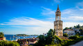 Old Church Bell Tower On The Island Of Hvar In Dalmatia Stock Images - 36643274