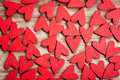 Wooden Hearts Background Royalty Free Stock Photography - 36647187