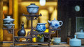 Chinese Teapots Display Stock Images - 36659264