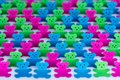 Bears Cut From Colored Paper At The Stadium Royalty Free Stock Images - 36670629