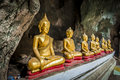 Roll Of Buddha Statue In The Cave Stock Photography - 36672742