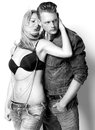 Male And Female Fashion Model In Sensual Pose Royalty Free Stock Photography - 36673897