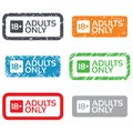 18 Years Old Sign. Adults Content Only. Stock Images - 36681174
