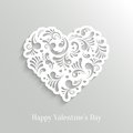 Absrtact Floral Heart Background Stock Photography - 36681732