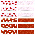 Valentine Seamless Banners Stock Photography - 36692322