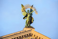 Statue At The Roof Of Theater In Lviv, Ukraine Royalty Free Stock Image - 36697326