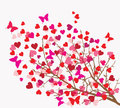 Valentines Day Background. Tree With Hearts () Stock Photos - 36697523