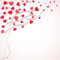 Valentines Day Background. Tree With Hearts () Royalty Free Stock Photos - 36697568
