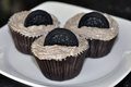 Chocolate Cupcakes With Cookies Stock Photo - 36699070