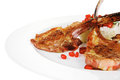 Meat Food: Ribs On White Plate With Rice Stock Image - 36710801