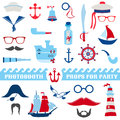 Nautical Party Set Royalty Free Stock Photo - 36711975