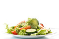 Fresh Salad With Cucumbers And Tomatoes Stock Photo - 36717430